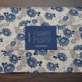 Blue & Tan Floral Challah Cover