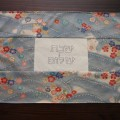 Baby Blue Floral Challah Cover